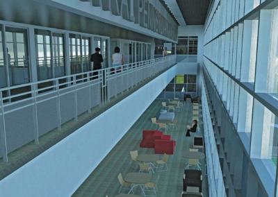 CPI - Health Sciences ~ Interior, Commons Atrium