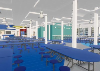 Caldwell County - Granite Falls - Middle School ~ Interior rendering Knowledge Commons 1