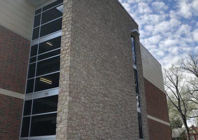 Westmont Hilltop - Elementary ~ Exterior, Stone Endwall (VM)