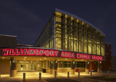 Willamsport - WAMS ~ Middle - Exterior night close up (VM)